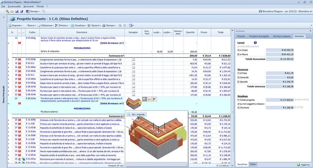 Pitagora computo metrico s a l contabilit lavori - Computo metrico per realizzazione di un bagno ...